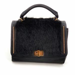 Aldo Black Fur Satchel Shoulder Bag